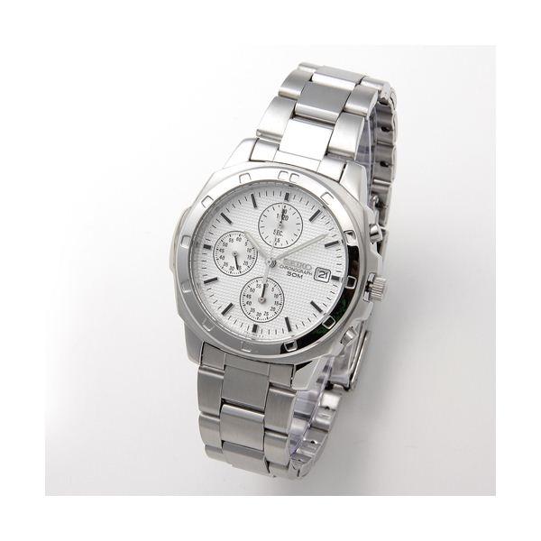 【送料無料】SEIKO(セイコー) 腕時計 クロノグラフ SND187P シルバー【代引不可】
