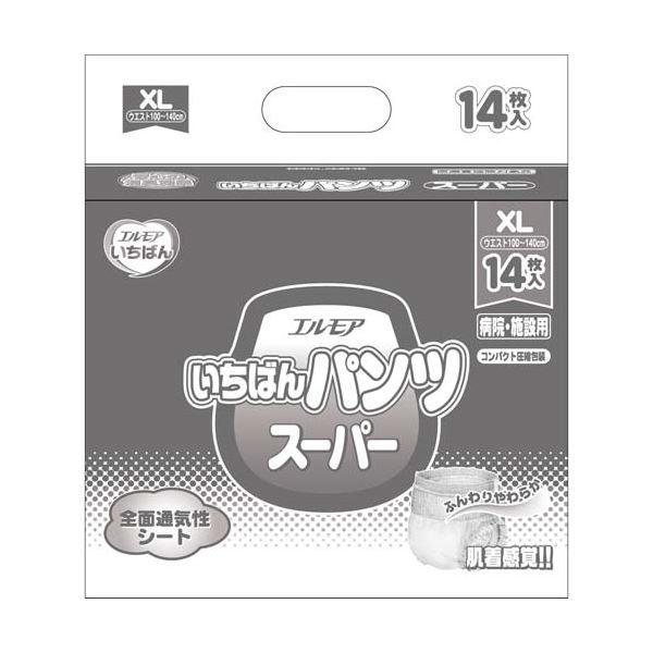 【送料無料】カミ商事 いちばんパンツスーパーXL14枚×6P【代引不可】