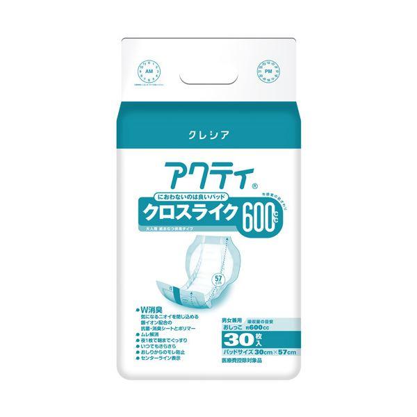 【送料無料】日本製紙クレシア アクティ パワー消臭パッド600 30枚6P【代引不可】