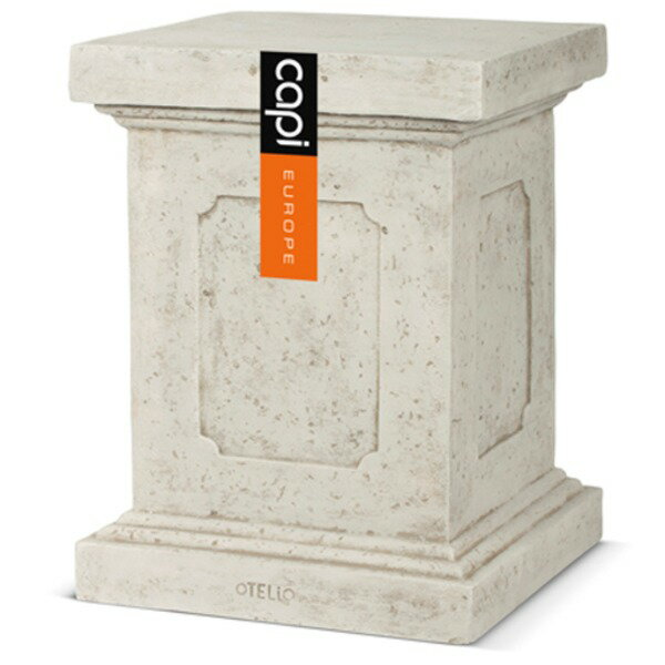 【送料無料】樹脂製軽量花台(植木鉢・プランターベース) CAPI 高さ51cm 防水/UV加工/耐寒性 アイボリー 〔ガーデニング用品/園芸〕【代引不可】