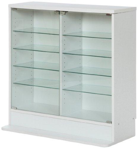 【送料無料】不二貿易 コレクション ケース ガラス製 奥行19cm ロー タイプ  フィギュア プラモデル ケース ホワイト 96072【代引不可】