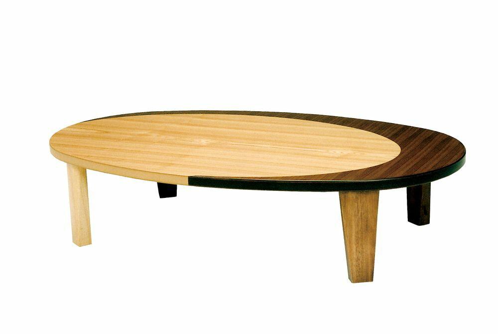 【送料無料】日本製 讃岐の和座 座卓 クラン サイズ 150 天板表面材 ナラ、ウォールナット TA15-160 国産品【代引不可】