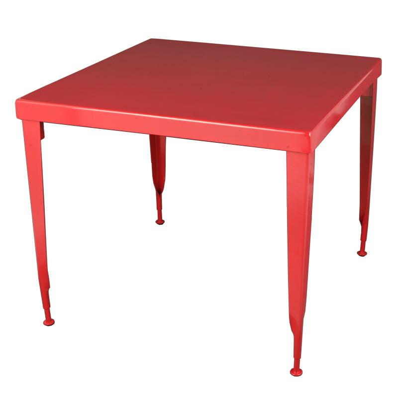 【送料無料】ダルトン スタンダード スクエア テーブル STANDARD SQUARE TABLE RED 100-245RD【代引不可】