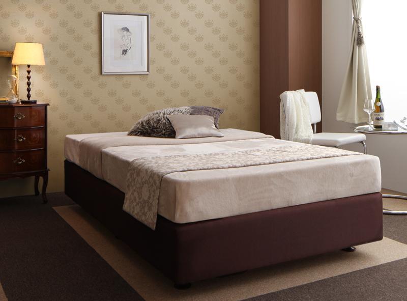 【送料無料】ホテル仕様デザイン ダブルクッションベッド 〔ポケットコイルマットレス付き〕 シングル【代引不可】
