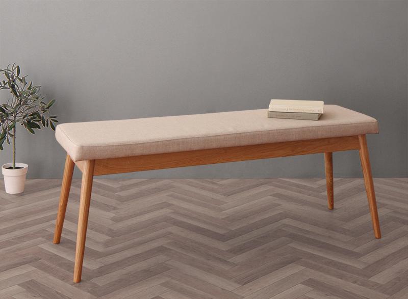 【送料無料】北欧デザイン スライド伸縮テーブルダイニングシリーズ 〔SORA〕ソラ ベンチのみ 単品販売 ベージュ【代引不可】