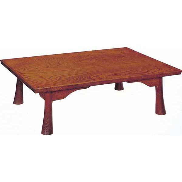 【スマホでポイント10倍以上♪&500円OFFクーポン】 テーブル 座卓 折脚 「丸ケリ」105cm幅 国産 完成品 送料無料