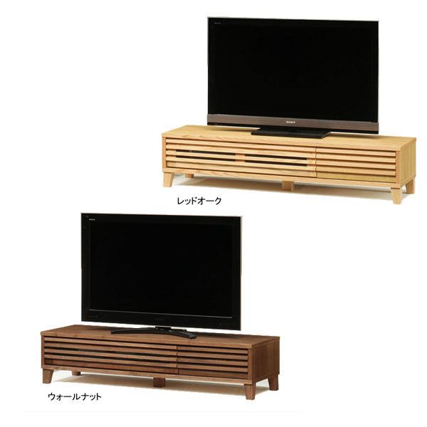 【送料無料】TVボード テレビボード ロータイプ「バジル」 153cm幅 2色対応