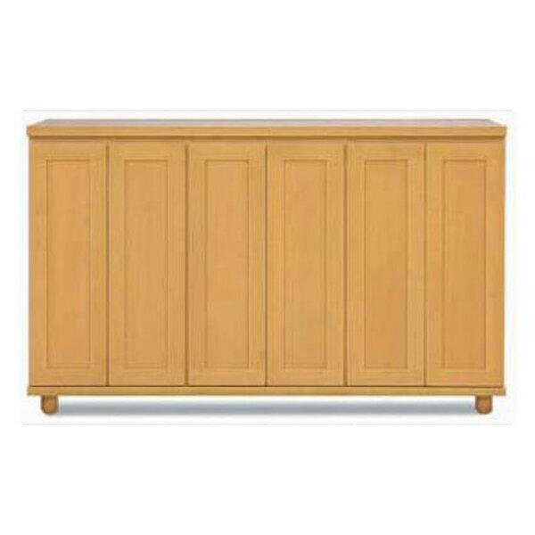 【国産】 下駄箱天然木アルダー材 『カリビアン』170cm幅 開き戸シューズボックス開梱設置・送料無料
