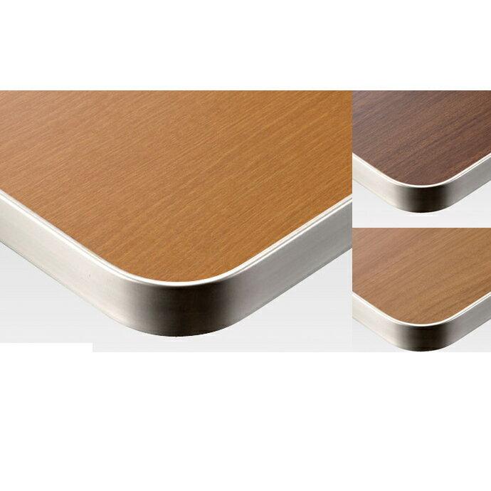 【 テーブル天板のみ 】テーブル天板 メラミン化粧板 アルミエッジシルバーフラット 木目 T-0030 W600×D600×t31.5 【 テーブル天板 パーツ 机 DIY 】