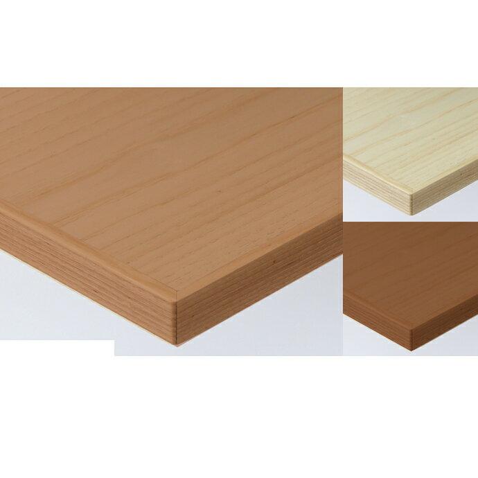 【 テーブル天板のみ 】テーブル天板 天然木 ホワイトアッシュ突板 木ブチ付 T-0060 W600×D600×t30 【 テーブル天板 パーツ 机 DIY 】