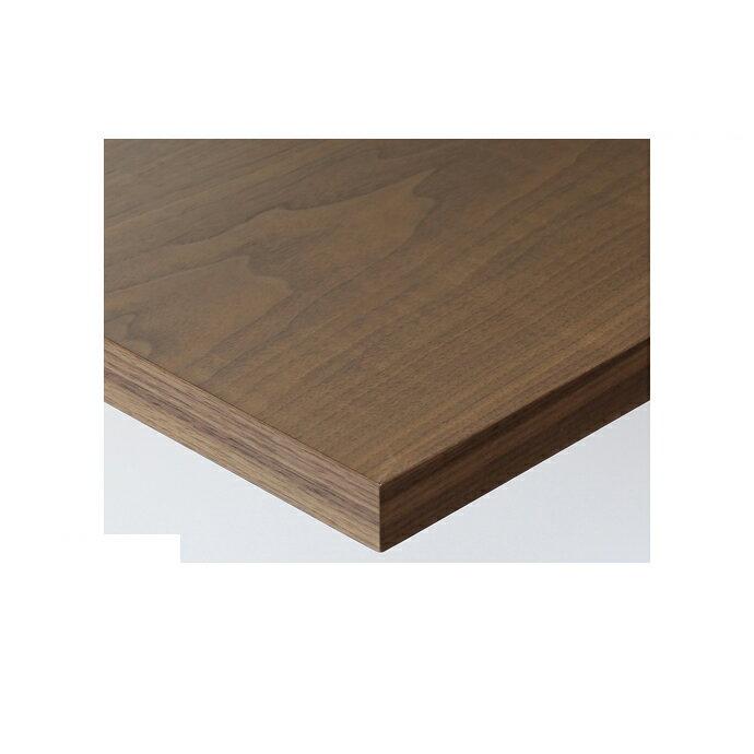 【 テーブル天板のみ 】テーブル天板 天然木 ウォールナット板目突板 共巻仕上げ T-0068 W600×D600×t40 【 テーブル天板 パーツ 机 DIY 】