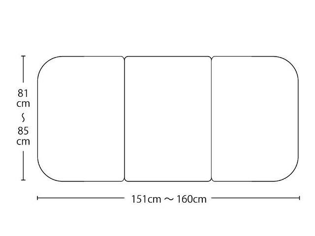 【送料無料】オーダーメイド冷めにく~い風呂ふた 奥行81~85×間口151~160cm 3枚割_10P03Dec16