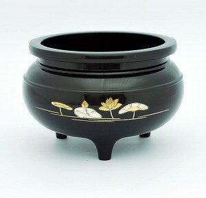香炉 (お線香立) 彫刻入 蓮水 50 うるみ 直径約15cm