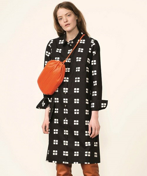 マリメッコ Marimekko/イックナ Ikkuna / Katrina dress(ブラック×ホワイト)/ワンピース