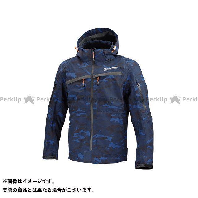 送料無料 コミネ KOMINE カジュアルウェア JK-122 WP プロテクション 3Lパーカ-ゲン ブルー カモ XS