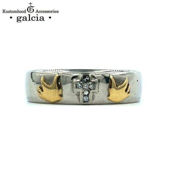 galcia / ガルシア (LADY'S) PLATINUM MARRIAGE RING  CROSS SWALLOW PT900 K18 DIAMOND プラチナ ダイヤモンド マリッジリング ペアリング クロス スワロウ (GMR01PT LADY'S)