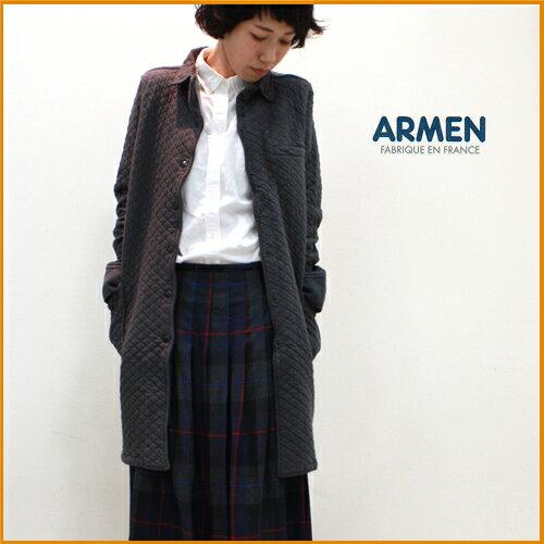 【送料無料】ARMEN【アーメン】コットンキルティングシャツカラーコート (cotton quilt shirts collar coat) NAM0362 レディース 綿キルト