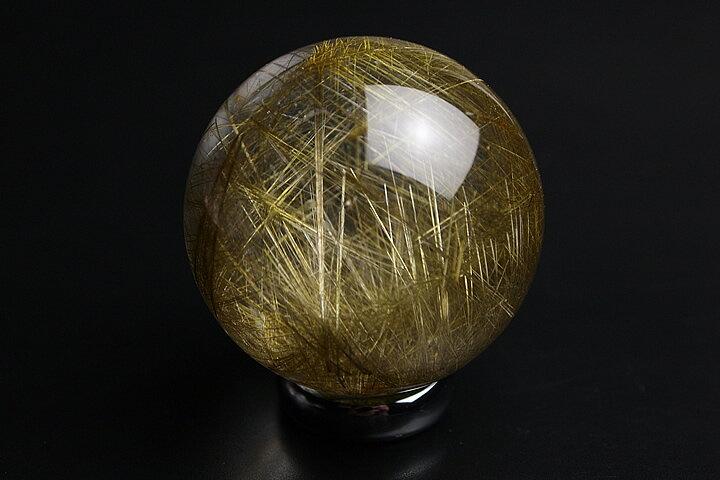 ルチル水晶丸玉 プレミアム