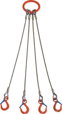 [スリング(繊維ベルト・ワイヤ)]【送料無料】大洋製器工業(株) 大洋 4本吊 ワイヤスリング 3.2t用×1m 4WRS 1S(1個入)【473-0445】