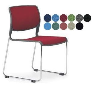 スタッキングチェア◆4脚セット MC-173 ミーティングチェア クロームメッキタイプ 8脚以上は更に↓会議椅子 (代引決済不可商品)