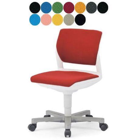 AICO 事務椅子 肘なし 回転 5本脚タイプ デスクチェア MC-257W/G 座W585 H755~ 3台以上更にお安く! 送料無料(代引決済不可商品)