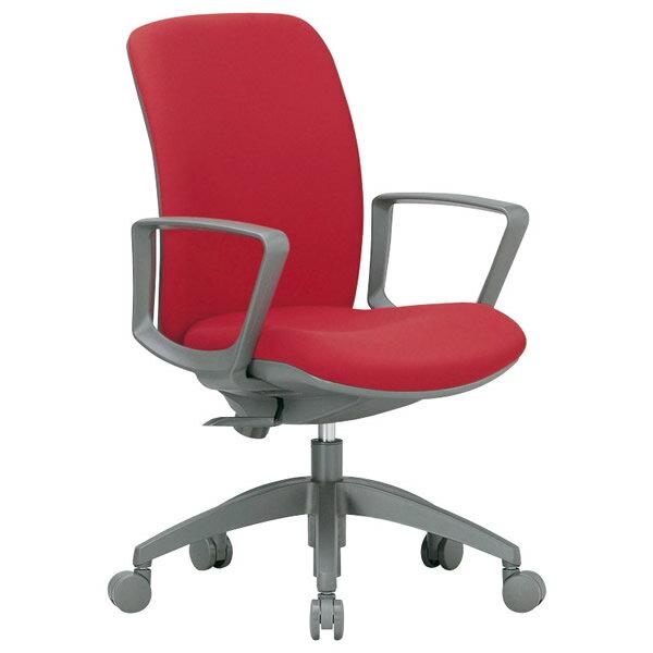 事務椅子 ミドルバック肘付きタイプ サークル肘 オフィス チェア OA-2135BJ 座W480 H895~ 3台以上で更にお安く