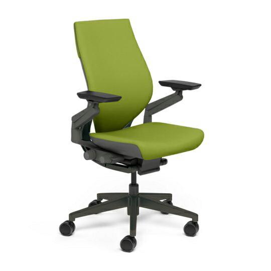 Steelcase スチールケース Gesture ジェスチャー チェア ワークチェア オフィスチェア パソコンチェア PCチェア 事務椅子 事務チェア 学習椅子 フィット 長時間 作業 疲れにくい 腰 サポート ラップバック 黒 ブラック わさび 黄緑 K-442A40BB