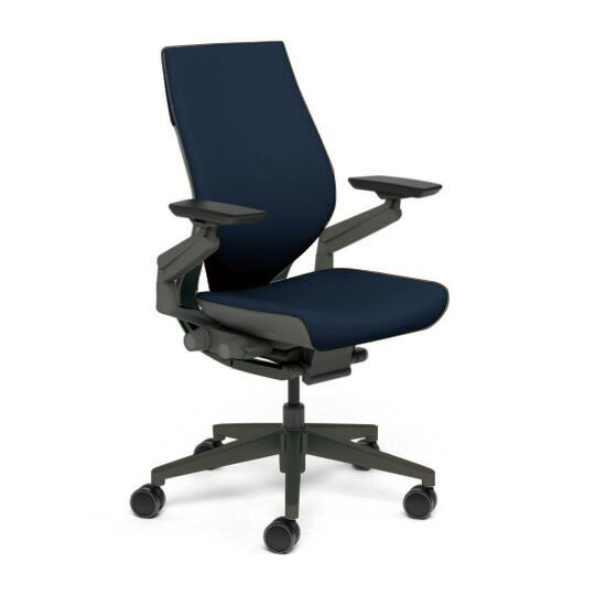 Steelcase スチールケース Gesture ジェスチャー チェア ワークチェア オフィスチェア パソコンチェア PCチェア 事務椅子 事務チェア 学習椅子 フィット 長時間 作業 疲れにくい 腰 サポート ラップバック 黒 ブラック ロイヤルブルー 青 K-442A40BB