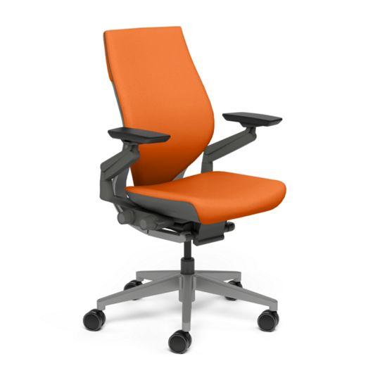 Steelcase スチールケース Gesture ジェスチャー チェア ワークチェア オフィスチェア パソコンチェア PCチェア 事務椅子 事務チェア 学習椅子 フィット 長時間 作業 疲れにくい 腰 サポート ラップバック ダーク タンジェリン オレンジ K-442A40DD