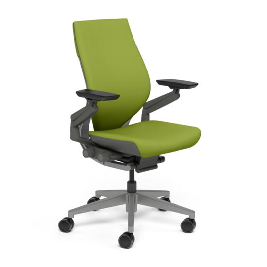 Steelcase スチールケース Gesture ジェスチャー チェア ワークチェア オフィスチェア パソコンチェア PCチェア 事務椅子 事務チェア 学習椅子 フィット 長時間 作業 疲れにくい 腰 サポート ラップバック ダーク わさび 黄緑 K-442A40DD