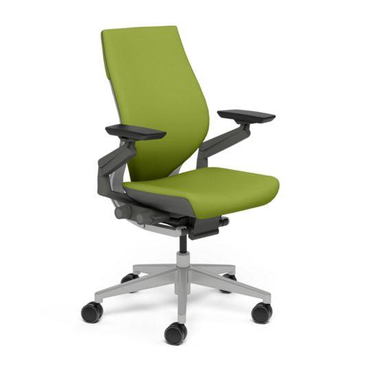 Steelcase スチールケース Gesture ジェスチャー チェア ワークチェア オフィスチェア パソコンチェア PCチェア 事務椅子 事務チェア 学習椅子 フィット 長時間 作業 疲れにくい 腰 サポート ラップバック ダーク ライト わさび 黄緑 K-442A40DL