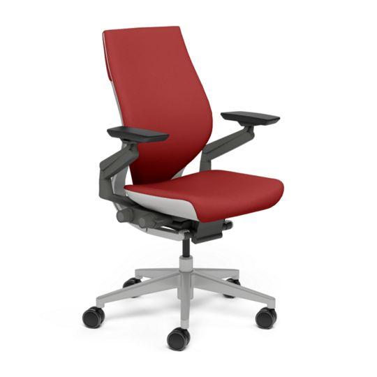 Steelcase スチールケース Gesture ジェスチャー チェア ワークチェア オフィスチェア パソコンチェア PCチェア 事務椅子 事務チェア 学習椅子 フィット 長時間 作業 疲れにくい 腰 サポート ラップバック ライト スカーレット 赤 K-442A40LL