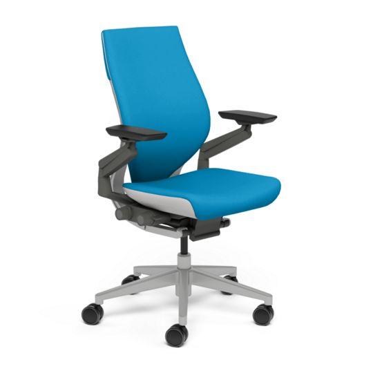 Steelcase スチールケース Gesture ジェスチャー チェア ワークチェア オフィスチェア パソコンチェア PCチェア 事務椅子 事務チェア 学習椅子 フィット 長時間 作業 疲れにくい 腰 サポート ラップバック ライト ブルージェイ 水色 K-442A40LL