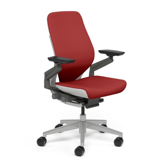 Steelcase スチールケース Gesture ジェスチャー チェア ワークチェア オフィスチェア パソコンチェア PCチェア 事務椅子 事務チェア 学習椅子 フィット 長時間 作業 疲れにくい 腰 サポート シェルバック ライト スカーレット 赤 K-442A30LL