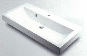 *KAKUDAI*493-070-1000H 角型手洗器[1ホールタイプ]