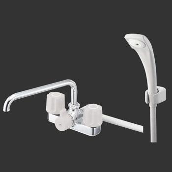 *三栄水栓*SK710-LH ツーバルブデッキシャワー混合栓 一般地用