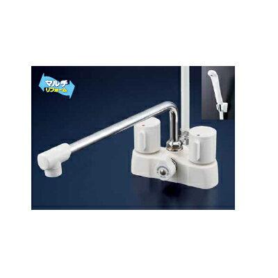 *KVK水栓金具*浴室用水栓 バス水栓 KF2008G3R3/KF2008ZG3R3 デッキ形2ハンドルシャワー 可変ピッチ式【送料・代引無料】