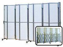 【送料無料】アルミキャスターゲート(ALS-P2AN5-36)【片開き 高さ2.0m×幅3.6m】NETIS認定品 仮設現場に最適