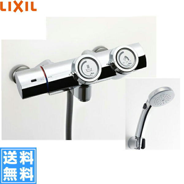 リクシル[LIXIL/INAX]シャワーバス水栓[サーモスタット][プッシュ式水栓][一般地仕様]BF-HW156TSCW【送料無料】