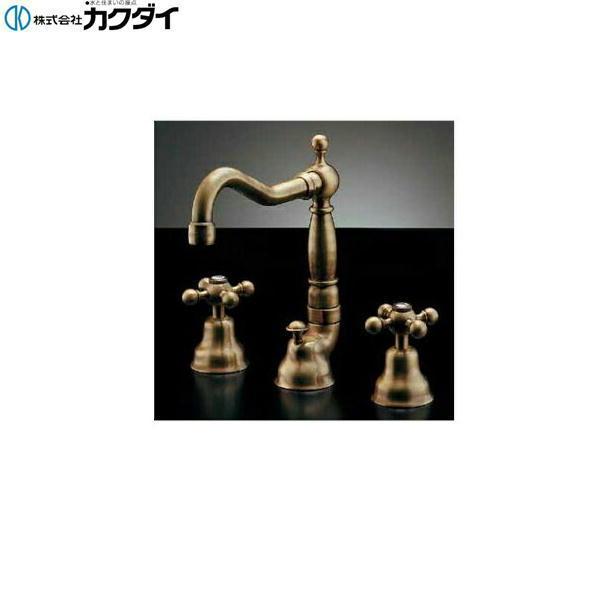 【フラッシュクーポン対象ショップ】カクダイ[KAKUDAI]2ハンドル混合栓//オールドブラス153-025【送料無料】