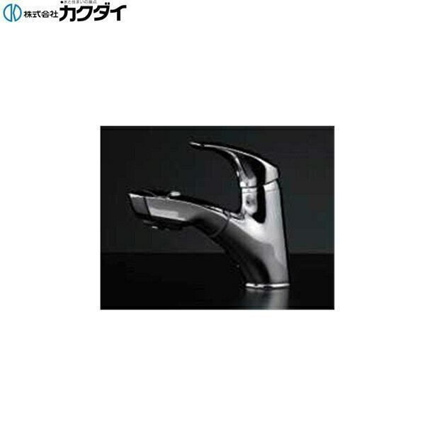 【フラッシュクーポン対象ショップ】カクダイ[KAKUDAI]シングルレバー引出し混合栓184-002【送料無料】