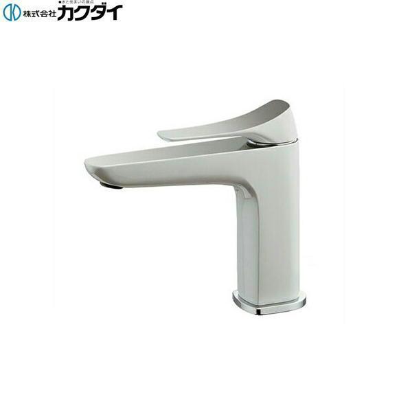 [183-181K]カクダイ[KAKUDAI]シングルレバー混合栓[寒冷地仕様][白塗装仕上げ]【送料無料】