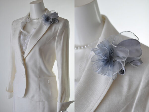 【あす楽対応・送料無料】【RCP】ホワイトジョーラ 7号/9号/11号/13号 WHITE JOOLA  凛々しく着回せるスカート2パターン 上品な華やぎ  プリーツスカートスーツ 人気の 白スーツ、ベージュスーツ 005(BL3Y)
