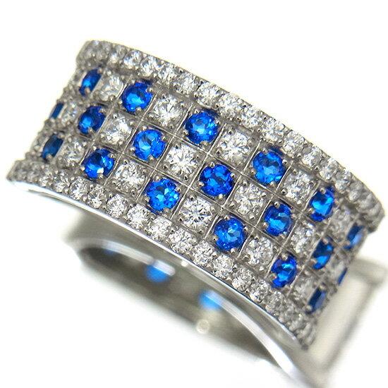 存在感抜群のゴージャスな幅広 アウイナイト0.43ct ダイヤモンド0.57ct プラチナリング【新品】【稀少石】