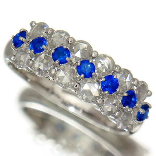 鮮明なコバルトブルー 濃厚アウイナイト0.27ct ローズカットダイヤモンド0.86ct プラチナリング【新品】【稀少石】