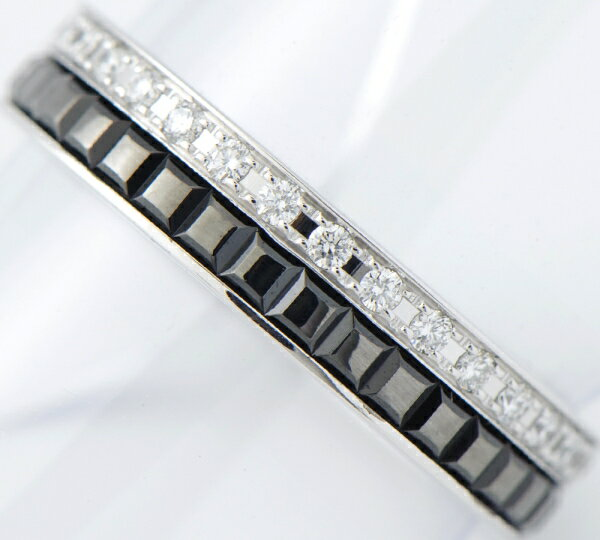 ブシュロン キャトルブラック ダイヤモンド リング #49 18金ホワイトゴールド【中古】(2200000202529)