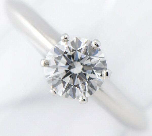 ティファニー クラシックソリティア ダイヤモンド0.75ct リング プラチナ【中古】(2200000212924)