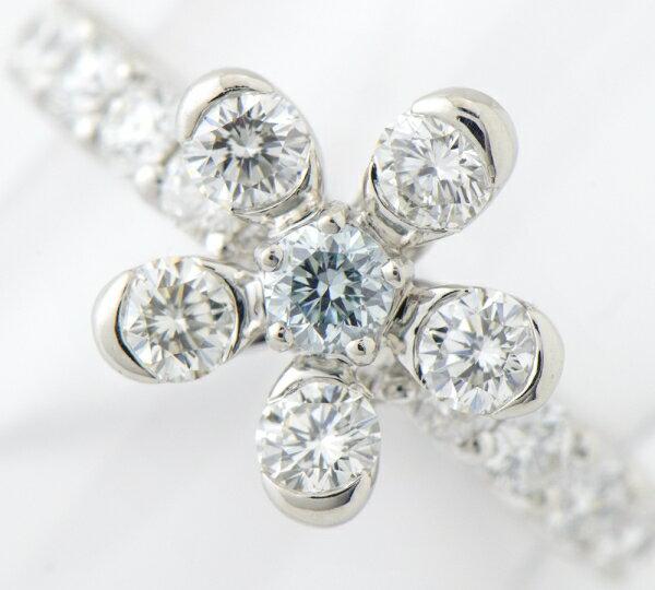 ファンシーライトグリーンブルーダイヤモンド0.142ct ダイヤ計1.90ct フルエタニティリング #11 プラチナ【中古】(2200000217097)