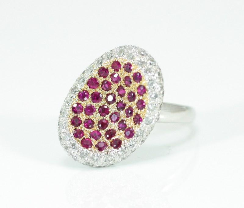 ルビー1.30ct! ダイヤモンド0.95ct! デザイナーズ1点品! Hand Made 個性的デザイン 指輪 送料&サイズお直し無料 7号 8号 9号 10号 11号 12号 13号 14号 15号 16号 今だけポイント10倍