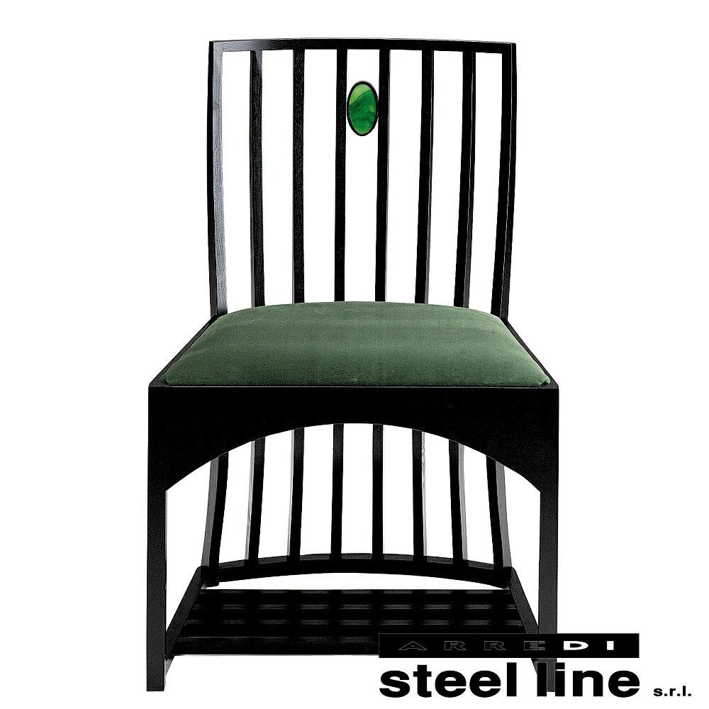 《100%MADE IN ITALY》�ャールズ・レニー・マッキントッシュ Side Chairスティールライン社DESIGN900